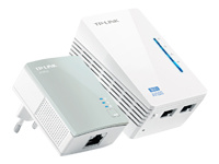 TP-LINK AV500 300Mbps 2-port Wireless Powerline Extender KIT including 1 TL-WPA4220 1 TL-PA4010 500Mbps Powerline Plug and Play